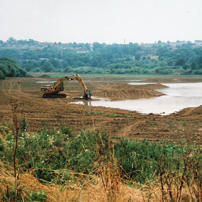 Digging the Lagoon in 1999